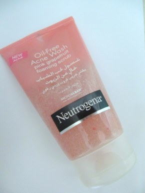 Think Pink- Neutrogena Pink Grapefruit Acne Face Wash Foaming Scrub